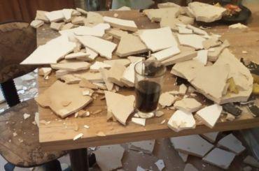 Потолок рухнул вкудровской новостройке