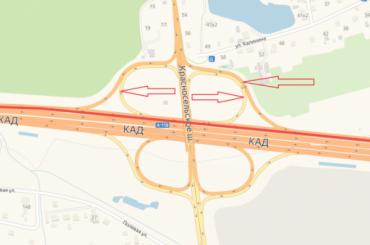 Три съезда перекроют наразвязке КАД сКрасносельским шоссе