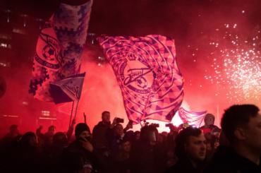Фанатов «Зенита» задержали вперерыве матча с«Тамбовом»