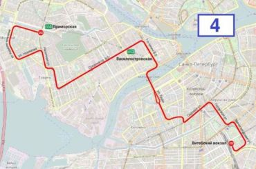 Измененные маршруты двух автобусов показали жителям Васильевского
