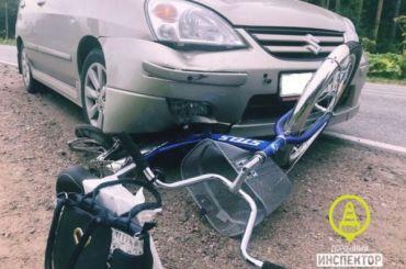 Пенсионер наSuzuki сбил велосипедистку под Гатчиной