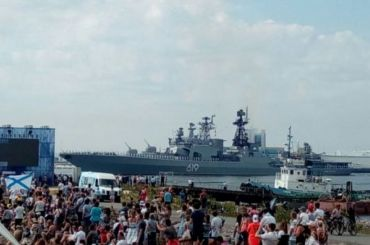 Парад ВМФ вКронштадте посетило вдва раза меньше гостей