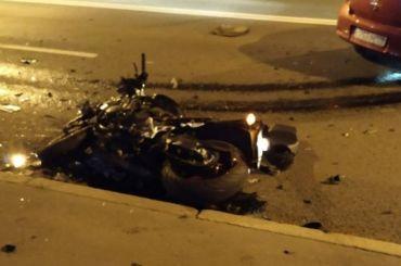 Мотоциклист иего пассажир пострадали наБольшом Сампсониевском