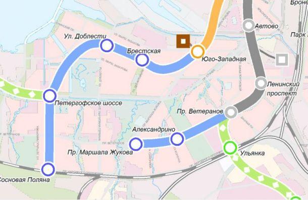 Проект коричневой ветки метро обойдется Смольному в990 млн рублей