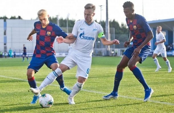 Молодые зенитовцы обыграли «Барселону» вматче юношеских команд