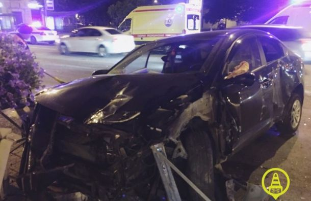 Пассажирка такси пострадала ваварии вМосковском районе