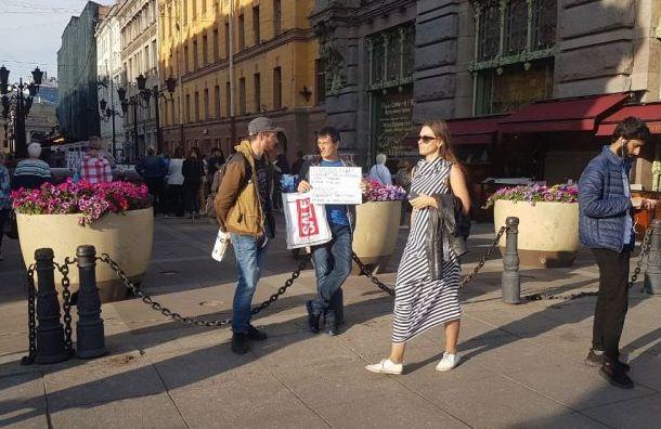 Активиста Мусина задержали вовремя пикета наМалой Садовой