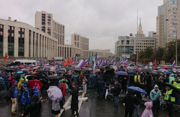 «Белый счетчик» зафиксировал почти 50 тысяч участников митинга вМоскве