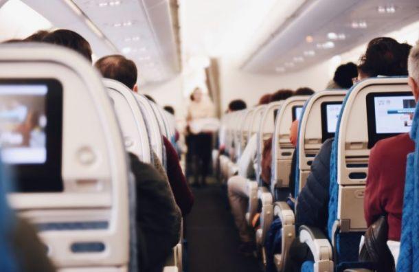 Пассажир выпрыгнул изштанов вовремя перелета вПетербург