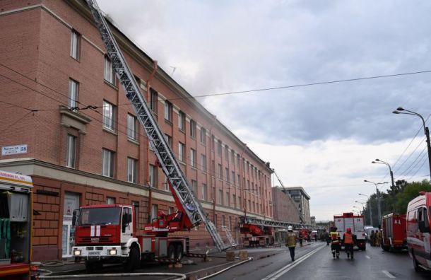 Пожар вбизнес-центре наМалом проспекте локализовали