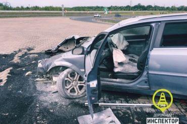 Ехавший поКАД скапельницей водитель врезался вотбойник
