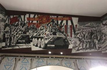 Панно «Афганистан» появилось настанции метро «Проспект Славы»