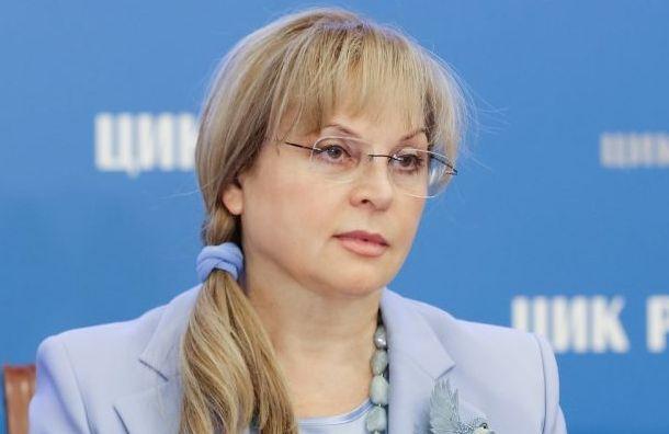 Памфилова неставит под сомнение итоги выборов губернатора Петербурга