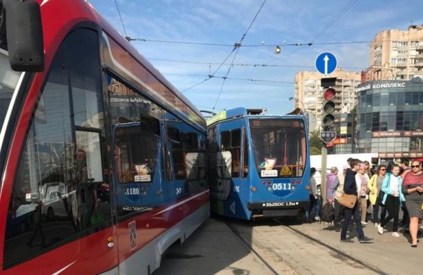 Два трамвая столкнулись на проспекте Просвещения