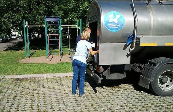 Жители Мурина остались без воды из-за аварии водопровода