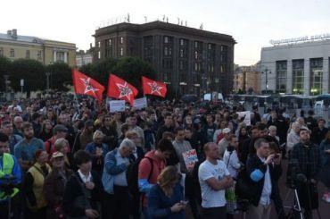 Митинг зачестные выборы завершился наплощади Ленина