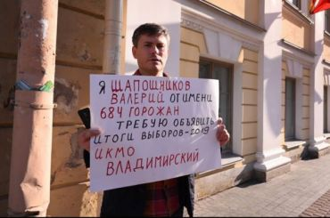 Кандидаты вмундепыМО «Владимирский» требуют объявить итоги выборов