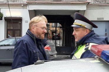 Проезд попереулку Гривцова перекрыли всвязи синаугурацией Беглова