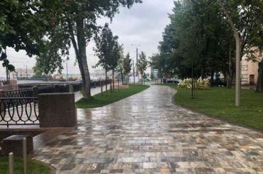 Открытие пешеходной набережной Карповки отменили из-за осадков