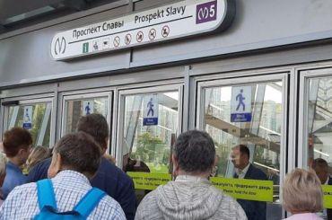 Беглов приехал открывать станцию метро «Проспект Славы»