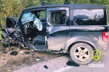 Водитель Mazda погиб встрашном ДТП под Тосно
