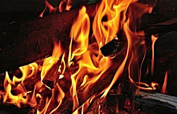 Частный дом вКрасном Селе полностью сгорел ночью
