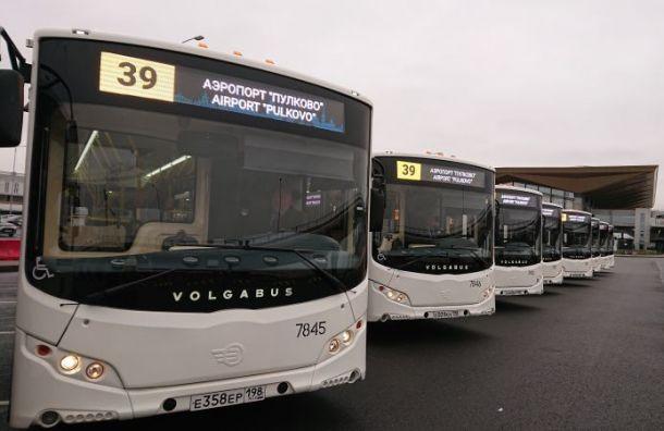 Намаршруты доПулкова вышли новые автобусы