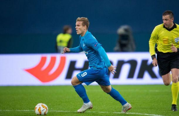 «Зенит» показал тренировку Кокорина вместе сосновной командой