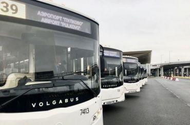 Современные автобусы выйдут намаршруты доаэропорта Пулково