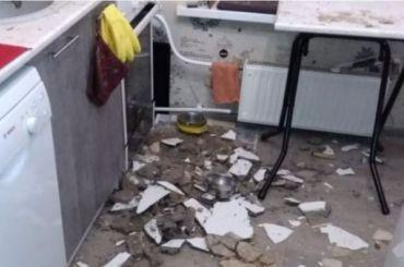 Вкоммуналке наМарата обрушился потолок
