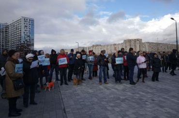 Жители Васильевского острова обсудили намитинге проблемы намывных территорий