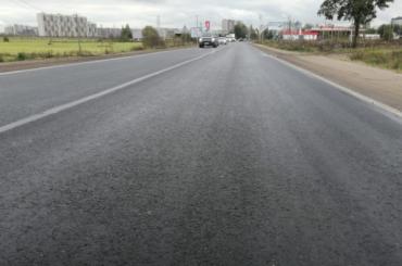 Отремонтировали единственную дорогу, соединяющую Бугры иПетербург