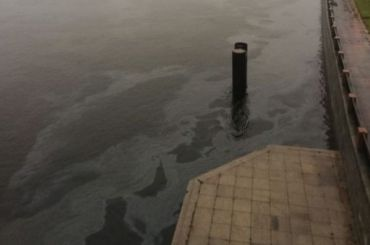 Петербуржцы заметили масляные пятна наповерхности Невы