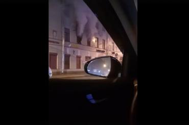 Коммуналка загорелась наКолокольной улице