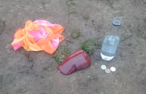 Жители Мурино обнаружили колдовской набор изсырой печени ибутылки водки