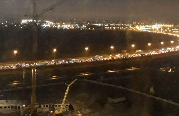 Вечерние пробки вПетербурге достигли 8 баллов
