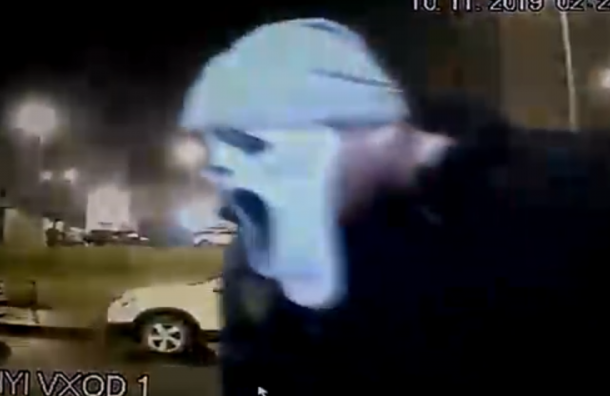 Хулиган вмаске маньяка из«Крика» разрубил домофон вЖК Шуваловское