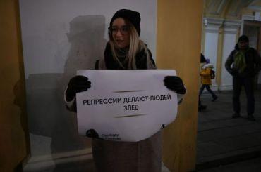 УГостиного двора прошел пикет вподдержку Михаила Светова