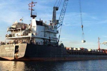 Корабль с600 тоннами урановых «хвостов» встал наякорь вКронштадте