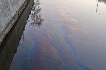 Петербуржцы заметили разлив нефтепродуктов наОбводном канале