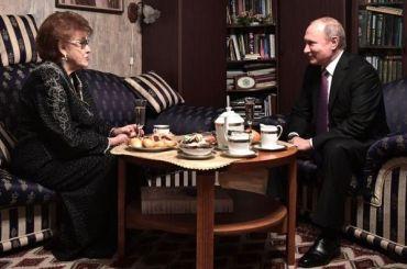 Путин выразил соболезнования всвязи сосмертью Вербицкой