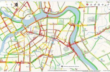 «Красная» пятница: Петербург застыл в9-балльных пробках