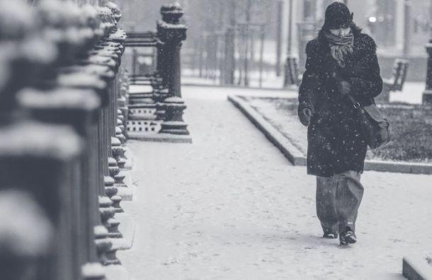 Петербург вчетверг ждут метель игололедица