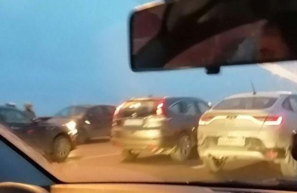 ДТП наКАД уСтаро-Паново спровоцировало гигантскую пробку