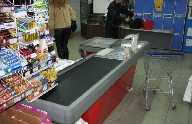 Петербуржец угрожал кассиру взорвать магазин