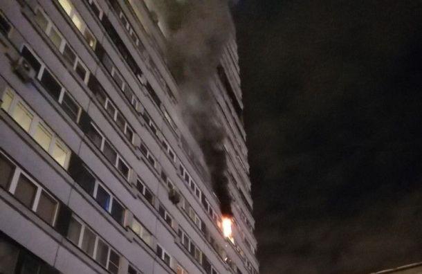 Квартира наМосковском проспекте ночью полыхала