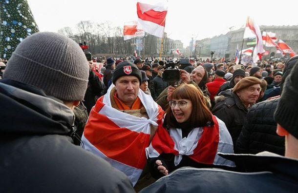 Белорусы вышли намитинг против объединения сРоссией