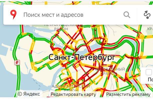 Приезд Путина иЛукашенко спровоцировал пробки вПетербурге