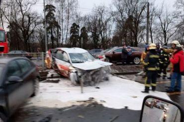 Установлен водитель Audi, устроивший ДТП из14 машин наВыборгском