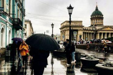 Рабочая неделя вПетербурге началась сдождя иплюсовой температуры